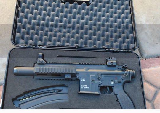 Seized sniper rifle.