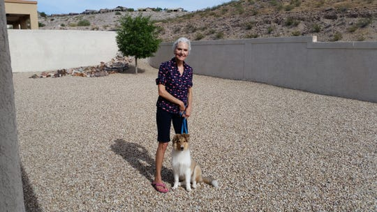 Barbara Thomas, 69, pictured with her dog, Lexi.