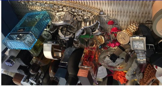 Jewelry from the home of Silverster Ruelas. Among the items seized was a Seattle Seahawks Super Bowl ring.