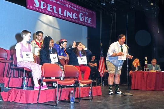 """The cast of County Players's """"25th Annual Putnam County Spelling Bee"""" is shown in dress rehearsal. The production opens Sept. 13 at the Wappingers Falls theater."""