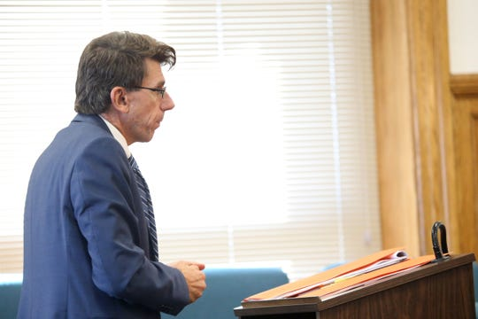 John Ingrassia, part of Nicole Addimando's legal team in Dutchess County Court on Monday September 9, 2019.  Addimando is in court seeking a reduced sentence through the Domestic Violence Survivors Justice Act.