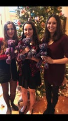 At Christmas, Jeff Hottle provided keepsake bears to his daughters (from left): Katelyn, Lauren and Meredith Hottle.