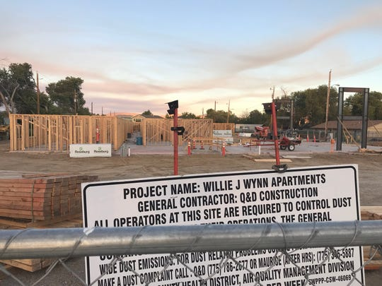 Construction is underway at the Willie J. Wynn Apartments in September 2019.