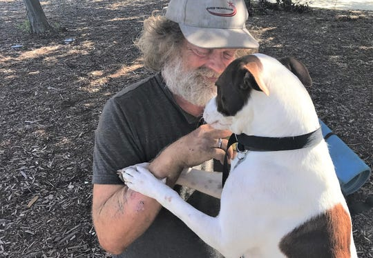 Scott Andrus was reunited with his dog Sassy over the Labor Day weekend. The dog went missing Aug. 14, he said.
