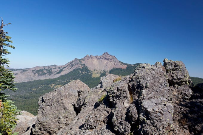 Three Fingered Jack from summit of Maxwell Butte