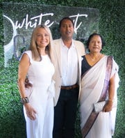 Jennifer and Dr. Anil Veluvolu and Dr. Ratnam Veluvolu at White Out Gala.