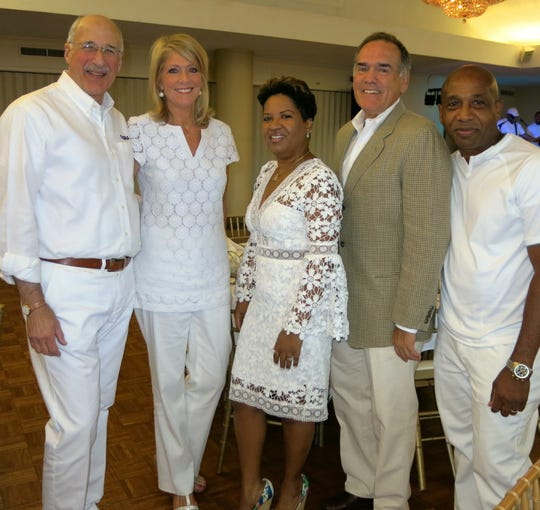 Kenn and Lisa Babin, Dr. Debbie Chandler, Dr. Chuck Fox, Kenny Brown at gala.