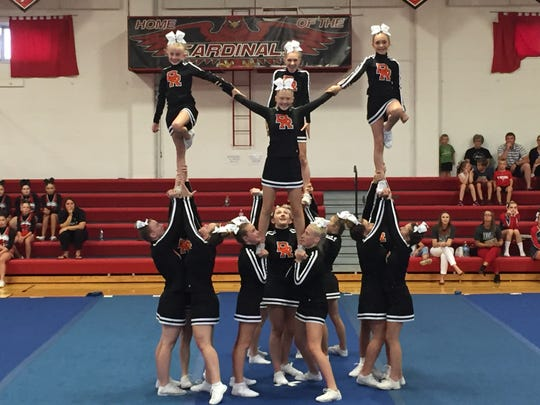 The Dell Rapids Competitive Cheer Team started the season with a first place finish at the St. Mary's Invitational on Monday, August 26.