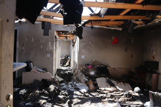 The aftermath of a fire at Canyon Pointe Apartments in St. George, Utah.