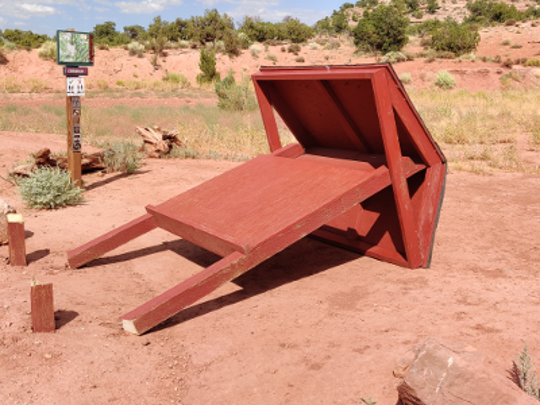 BLM kiosk that was vandalized over the weekend in Moab.