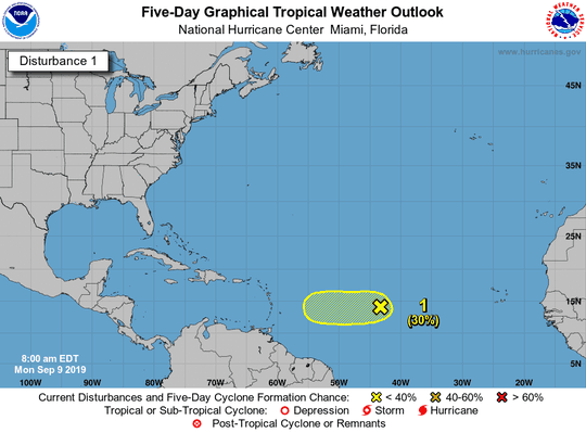 Tropical wave 8 a.m. Sept. 9, 2019