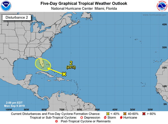 Tropical wave 2 p.m. Sept. 9, 2019