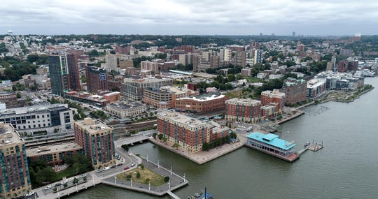 Drone photo of the Yonkers waterfront Sept. 6, 2019.