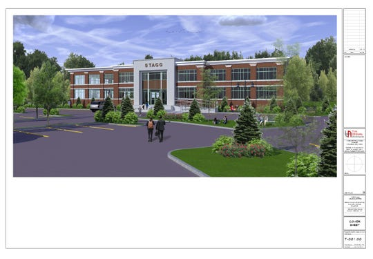 Rendering of planned Stagg Group headquarters at 1 Bradford Road in Mount Vernon