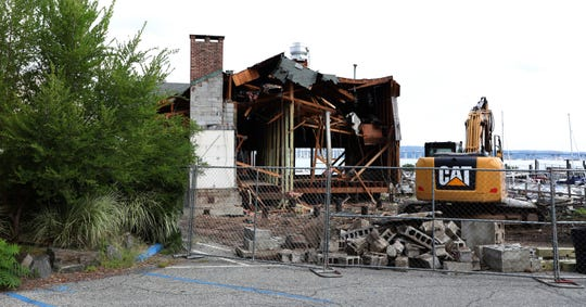 The River Club restaurant in Nyack is being demolished Sept. 9, 2019.