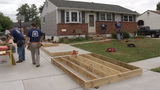 Volunteers came together to build a handicapped ramp for a 13-year-old boy in a wheelchair and his family.  Video provided by John J. Jankowski Jr.  9/9/19