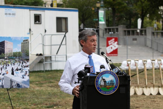 Delaware governor John Carney speaks at  the Rodney Square groundbreaking ceremony on Monday, Sept. 9, 2019.