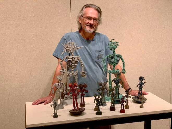 """Former MSU Art professor Robbie Barber's """"Split Decision"""" exhibit runs through October 11 in the Juanita Harvey Art Gallery at Midwestern State University and will be part of the 2019 Stroll 'N Roll tour."""