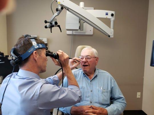 Dr. Hunt's camera takes a peek at Bob.