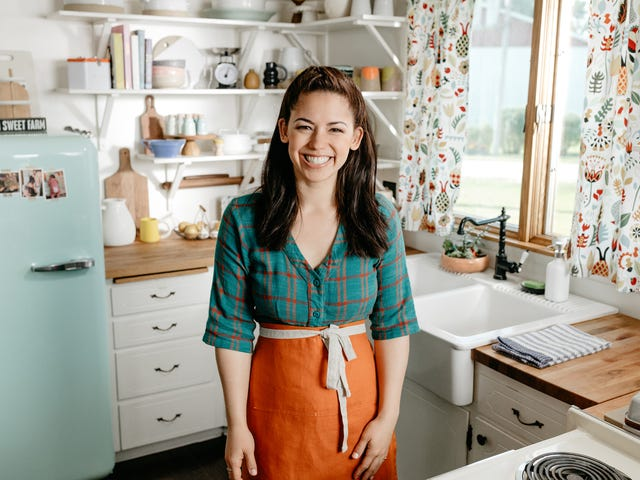 Food Network chef Molly Yeh brings baby Bernie into her kitchen