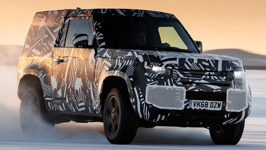 Land Rover teased the 2020 Land Rover Defender with this image.