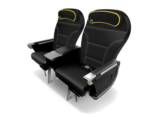 "Spirit's extra legroom ""Big Front Seats,'' which are at the front of the plane and cost extra, are also getting an upgrade."