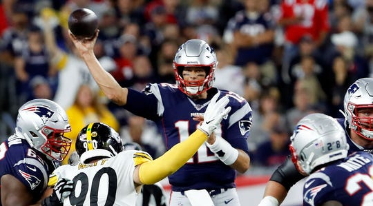 Tom Brady and the Patriots beat the Steelers easily Sunday night, 33-3. Imagine how much worse it could have been had newly signed star receiver Antonio Brown played for his new team.
