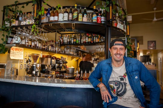 Recovering alcoholic and two-time James Beard award-winning chef Gabriel Rucker is proving that you can lead a big life in the food industry and stay sober while doing it. Rucker sits for a portrait in his newest Portland restaurant location, Canard.