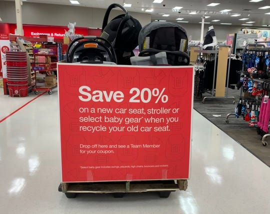 Target's car seat trade-in event ends Sept. 13. Get a 20% coupon for recycling an old car seat, stroller or booster seat.
