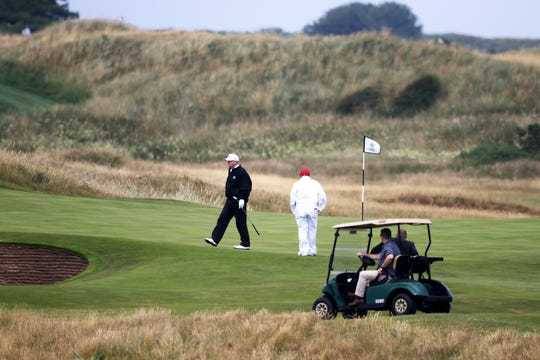 """President Donald Trump says service members that stayed at his Turnberry golf club in Scotland """"have good taste."""""""