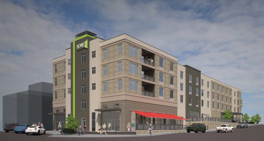 This is the updated rending of the new Home2Suites coming to downtown Anderson. It is expected to be completed in fall 2021.