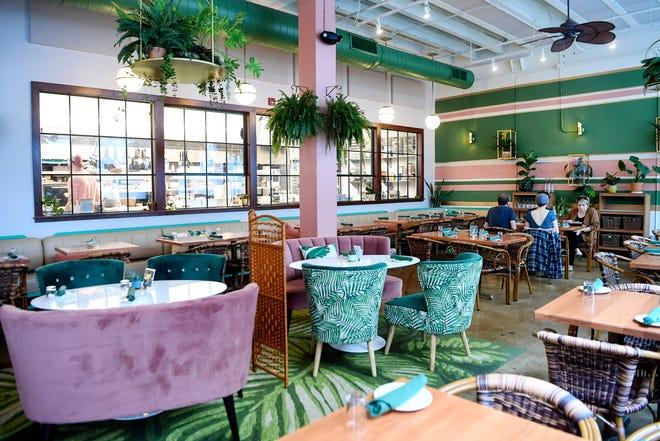 Inside Noble Cider's restaurant and bar, The Greenhouse, September 7, 2019.