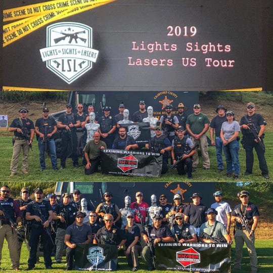 Galion Police Department hosted Lights, Sights and Lasers training in late August.