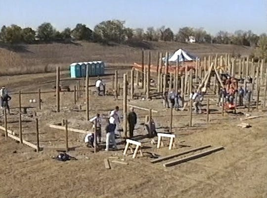 It was 20 years ago that more than 300 volunteers spent six days constructing the Fort Liberty Playland.