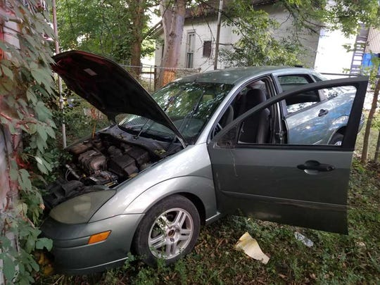 A man crashed his Ford Focus into a home on Greenwood Avenue on Monday, Sept. 9, 2019.