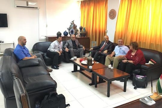 Dr. Christman met with Yarmouk University administrators this summer.