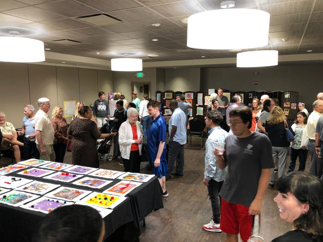 """""""The Greatest Art Show"""" recently showcased the art work of adults with special needs who participate in the J-Cares Adult Intern Program at the Shimon and Sara Birnbaum JCC in Bridgewater."""