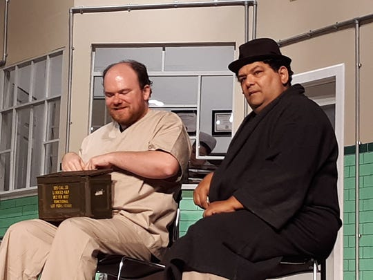 """Patrick Serpico as Scanlon andRupert Ravens as Martini in""""One Flew Over the Cuckoo's Nest"""" opening Friday, Sept. 13, at Playhouse 22 in East Brunswick."""