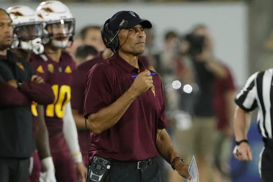 """""""Now we're gonna play a legitimate football team,"""" says Arizona State head coach Herm Edwards of Michigan State."""