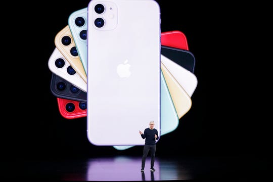 Apple CEO Tim Cook talks about the latest iPhone.