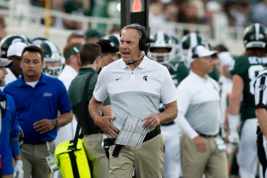 Michigan State head coach Mark Dantonio challenged the offense after a lackluster season opener against Tulsa.