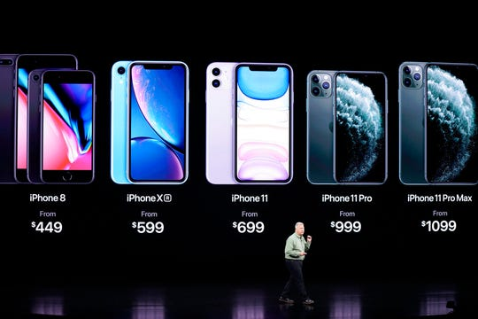 Phil Schiller, Senior Vice President of Worldwide Marketing, talks about the new iPhone 11 Pro and Max, during an event to announce new products Tuesday, Sept. 10, 2019, in Cupertino, Calif.