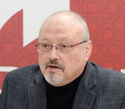 This file photo, dated March 2018, shows Saudi journalist Jamal Khashoggi, killed in Istanbul on Oct. 2, 2018.