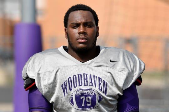 Woodhaven High School running back Clarence Corbett.