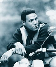"Marvin Gaye, seen circa 1964, was Motown's prince of soul, with a phenomenal range of of styles.  His early Motown career featured romantic duets with Diana Ross, Mary Wells and especially Tammi Terrell (""Ain't No Mountain High Enough"").  His landmark song ""What's Going On"" in 1971 was inspired by unrest of the Vietnam War."
