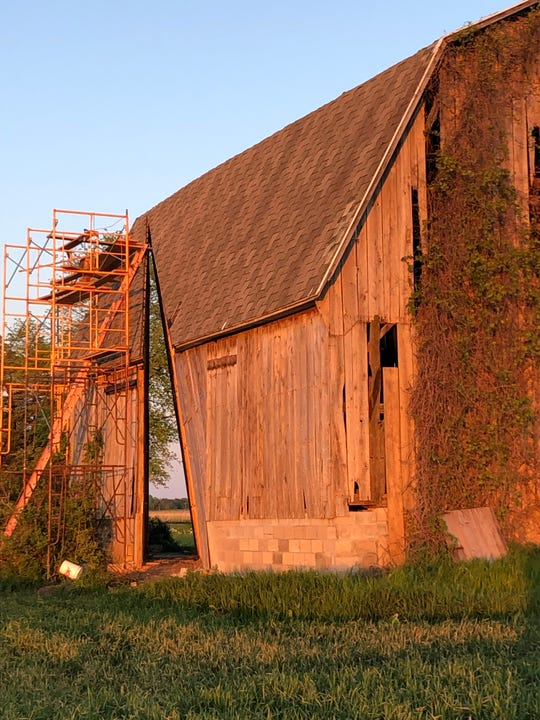 "Creating ""Secret Sky"" out of a 1920s barn took architect Catie Newell about two years."