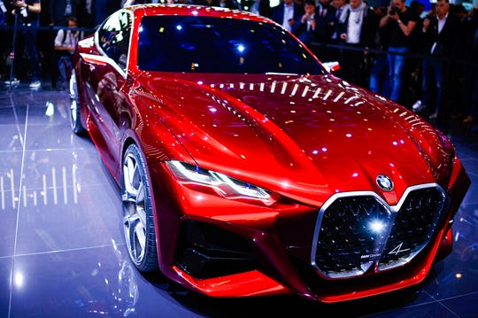 A 'BMW Concept4' car is displayed at the IAA Auto Show in Frankfurt, Germany, Tuesday, Sept. 10, 2019.