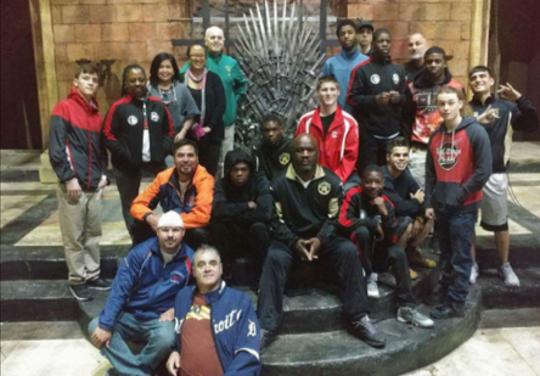 "Detroit Chapter of Bridges Beyond Boxing visits the HBO ""Game of Thrones"" set in Northern Ireland."