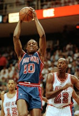 Dennis Rodman played his first seven seasons with the Pistons.
