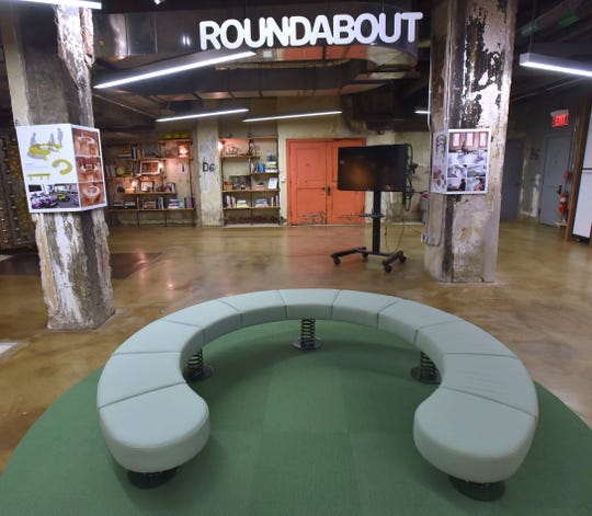 This 'Roundabout' is a conceptual furniture piece created through the Design Fellowship presented by Pophouse and Joe Parr.